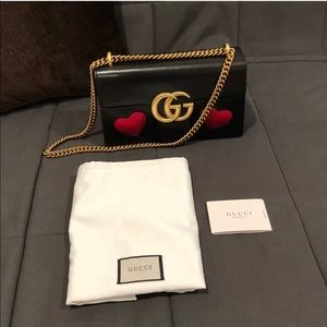 Gucci marmont heart bag